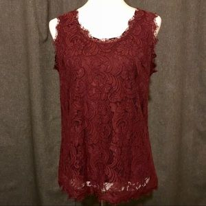 Lacey Sleeveless Blouse